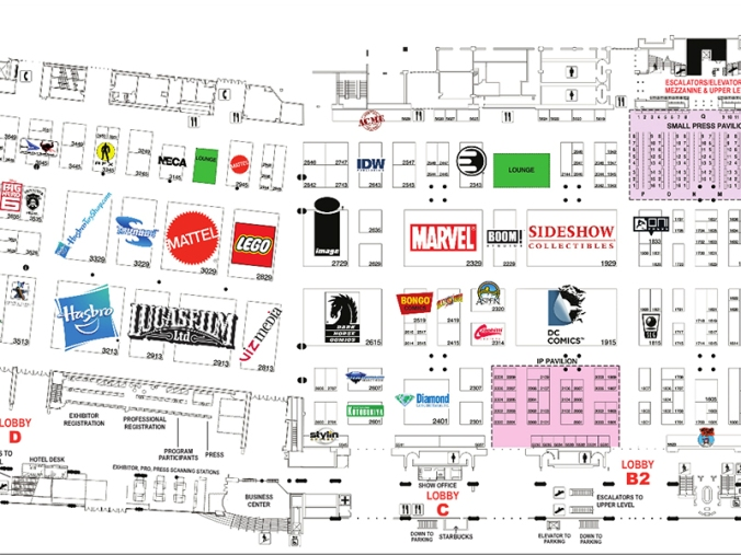 A floor map for San Diego Comic Con International was released to the public today.