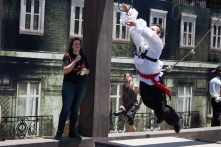 A course designer from Tempest Freerunning Academy completes the Assassin's Creed course.