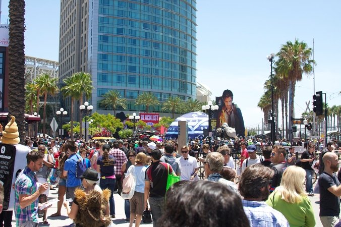 The Gaslamp Quarter of San Diego is transformed for the annual Comic Con convention.
