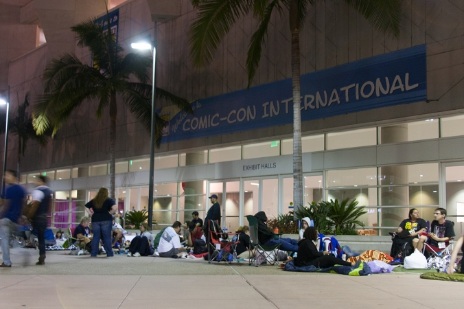 Line camping has become a popular tradition for SDCC attendees.