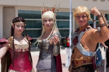 'Lord of the Rings' meets 'He-Man' outside the convention center.
