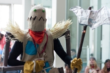 Fiddlesticks from 'League of Legends' brandishes his scythe.