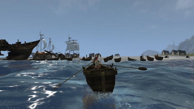 Players can make their own boats, allowing for interesting battles at sea.