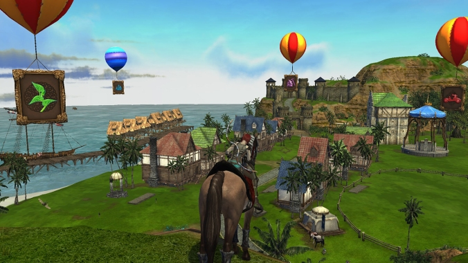 Mirage Isle, a sort of shopping hub for players to browse mounts, ships, homes, and more.