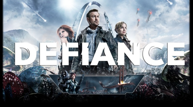 'Defiance,' starring Grant Bowler, takes place in a war-torn version of future St. Louis. (SyFy)