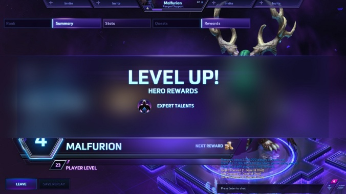 Talents replace the traditional item grind for heroes, but must be unlocked by leveling each character.