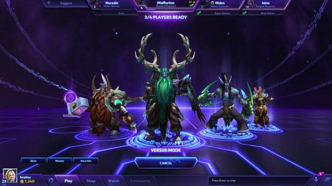 Players can play 'Heroes of the Storm' solo or co-op with friends, but a proper matchmaking system will not be implemented until the game reaches Beta.