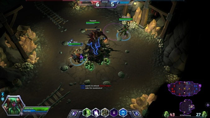 Emphasis on battling for control of map objectives, such as this Grave Golem, help 'Heroes of the Storm' stand out from other MOBA's.