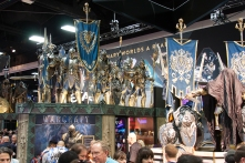 Attendees entering through the main lobby were greeted with WETA Workshop's collection of armor for the upcoming 'Warcraft' film.