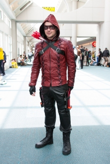 'Arrow's' Arsenal roams the lobby of the convention center.