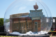 A snow globe for 'Fargo' behind the convention center.