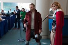 Two Thors wait near the SDCC checkin area.
