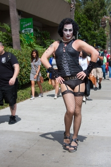 Richard Lillard dazzles with his Rocky Horror outfit.
