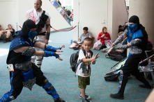 A 'Mortal Kombat' fan learns from two Sub-Zeroes.