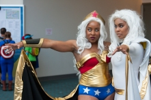 Wonder Woman and Storm ready to unleash Amazonian fury.