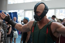 Bane seeks a challenge among the crowd.