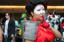 Bonnie Nakornratana shows off her Katana cosplay from DC Comics.