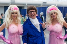 Even Austin Powers appeared at this year's convention, Fembots in tow.