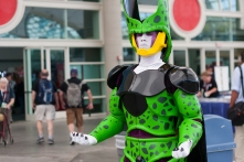 With a new Dragonball series in the works, Cell got in on the cosplay action.